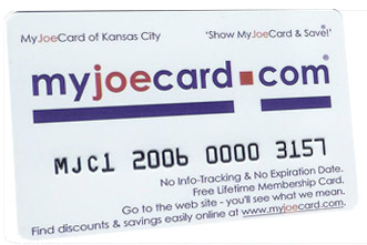 The New MyJoeCard for Kansas City - Best Consumer Value in the Kansas City area!